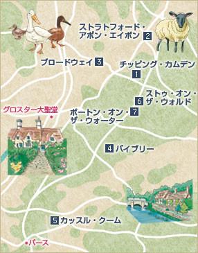 コッツウオルズ地図