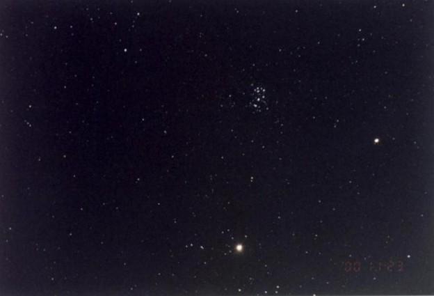 009木星と土星とプレアデス星団