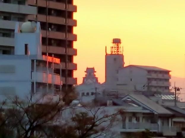 夜明けの高知城
