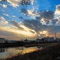 Photos: 空と川の流れ.3
