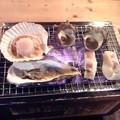 Photos: ホタテ二枚、カキ二枚、サザエ二個、イカ一杯で1500円とは安いね。