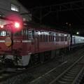 青森駅で発車を待つ急行はまなす