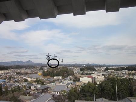 天守閣から富士山をみる@掛川城