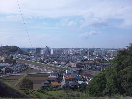 多摩川方面をみる