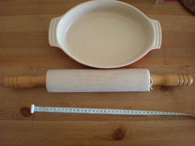 グラタン皿とピザローラー