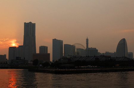 横浜で黄昏れて。