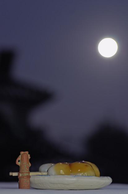 Photos: ハニワ、月を愛でる。