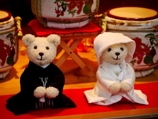 熊の新郎新婦