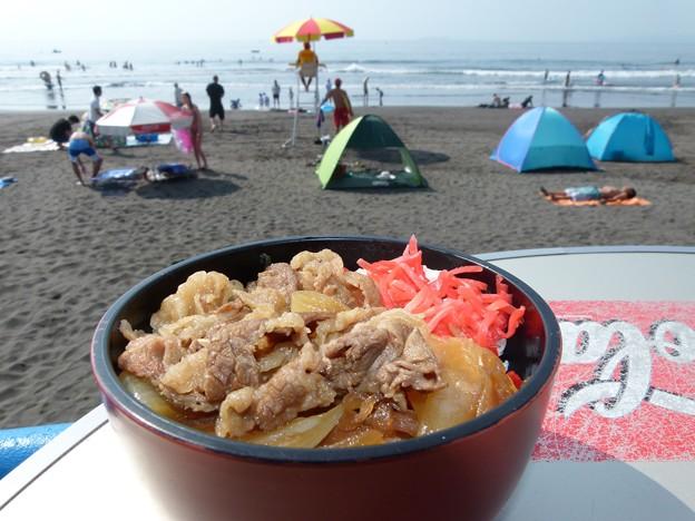 写真: 湯河原2015牛丼