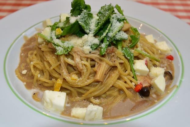 武蔵小杉ポルチーニ茸とチーズのパスタ