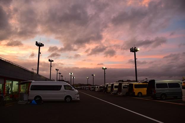 写真: もてぎの夕日