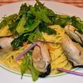 牡蠣のバターアンチョビパスタ