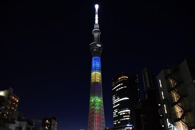 Photos: 2108東京スカイツリーオリンピックライトアップ