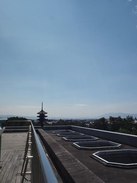 屋上広場西側から南を望む