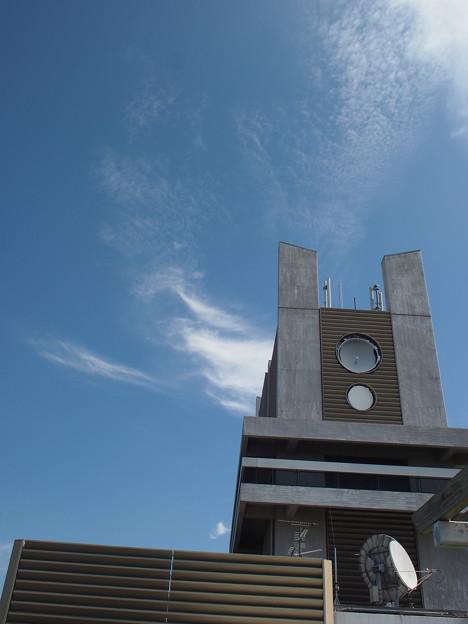 屋上広場の上の展望台