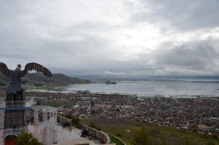 プーノの高台から、晴れてないのでイマイチ