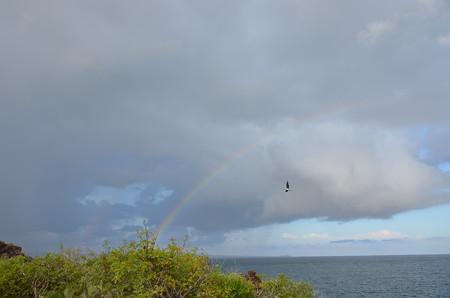 はじめてのダブルレインボウ。左にも虹がっ