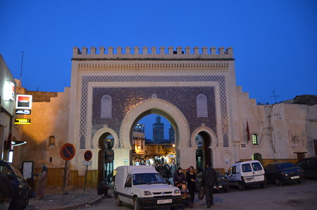 メディナの入口、ブー・ジュールド門。美しい