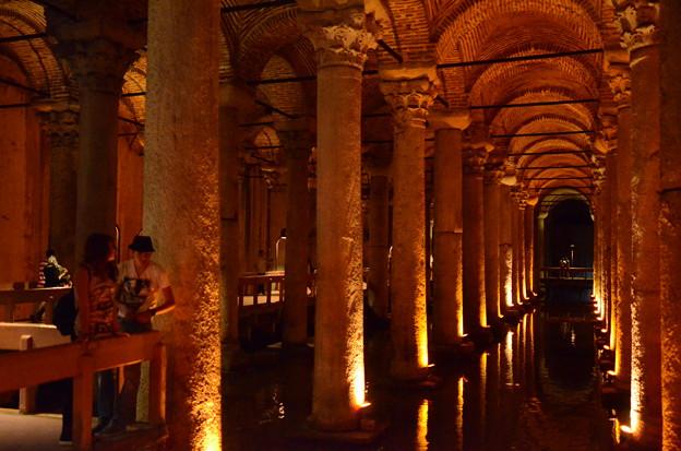 地下宮殿、水を貯めていた