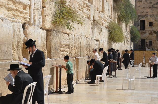 エルサレム旧市街の嘆きの壁。ユダヤ教の聖地