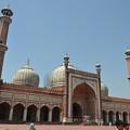 写真: ジャマー・マスジット。インド最大のモスク、搭からの眺めもよい