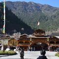 写真: 九寨溝のチベット村