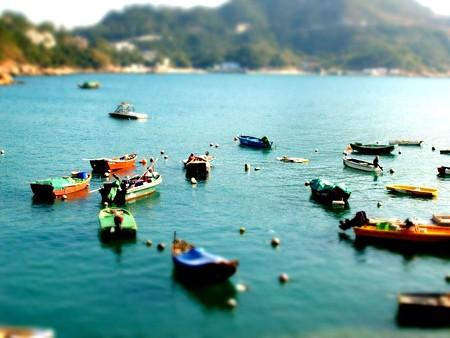 香港の港町