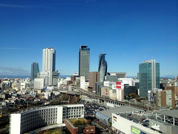 愛知大学 新名古屋キャンパスから見える景色:名駅ビル群