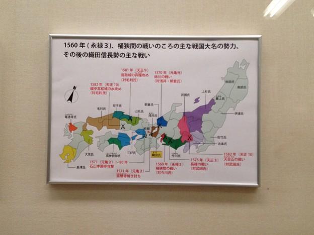 秀吉清正記念館 - 022:桶狭間の戦いの頃の主な戦国大名の勢力、その後の織田信長勢の主な戦い