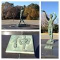 写真: 愛知県体育館前にあるブロンズ像:「伸」(まとめ) - 2