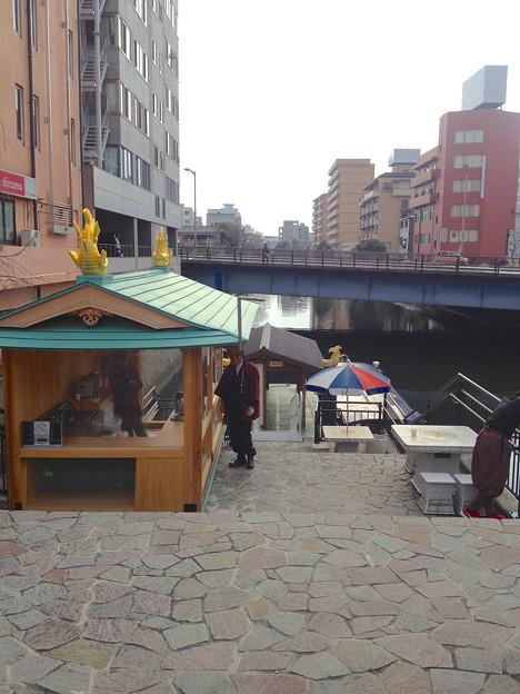 サムライクルーズ「初詣号」 - 04:「朝日橋」船着場