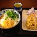 丸亀製麺:とろたまうどん と かき揚げ・おにぎり の日替わりセット