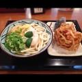 丸亀製麺:すだち おろし 冷かけうどんの日替わり定食