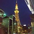 写真: Blossa(ブロッサ)から見上げた夜の名古屋テレビ塔 - 2