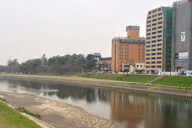 殿橋から見た岡崎城 - 1