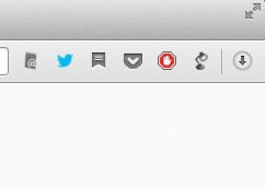 Opera 15:ダウンロード通知表示ボタン