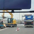 写真: 舗装工事中の名古屋高速小牧線 - 3