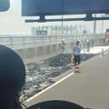 写真: 舗装工事中の名古屋高速小牧線 - 4