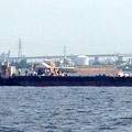 Photos: 名古屋みなと祭 2013:海上に停留された花火打ち上げ船 - 4