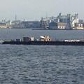 写真: 名古屋みなと祭 2013:海上に停留された花火打ち上げ船 - 6