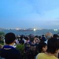 写真: 名古屋みなと祭 2013:花火開始10分前の臨港緑園