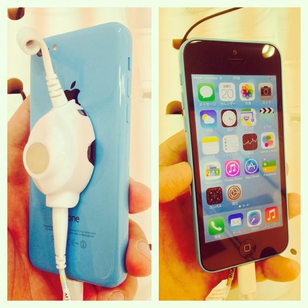 iPhone 5c ブルーモデル - 5