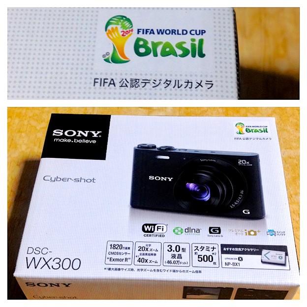 SONY DSC-WX300の箱に「FIFA 公認デジタルカメラ」!? - 3