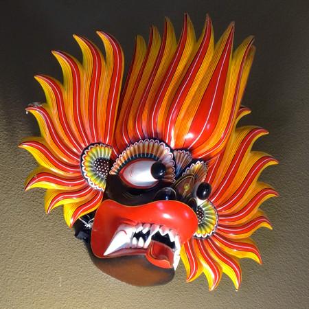 新アジアゾウ舎「ゾージアム」No - 043:スリランカのお面?