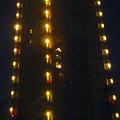 写真: スカイタワー前駐車場から見上げた、夜の東山スカイタワー - 9