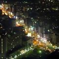 写真: 東山スカイタワーから見た夜景 No - 17:広小路通(東山公園駅前)