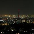 写真: 東山スカイタワーから見た夜景 No - 22:中京テレビの電波塔