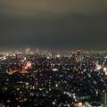 写真: 東山スカイタワーから見た夜景 No - 47:広小路通と名駅・栄方面