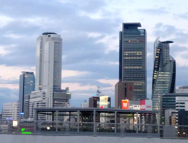 名古屋高速から見た名駅ビル群 No - 09
