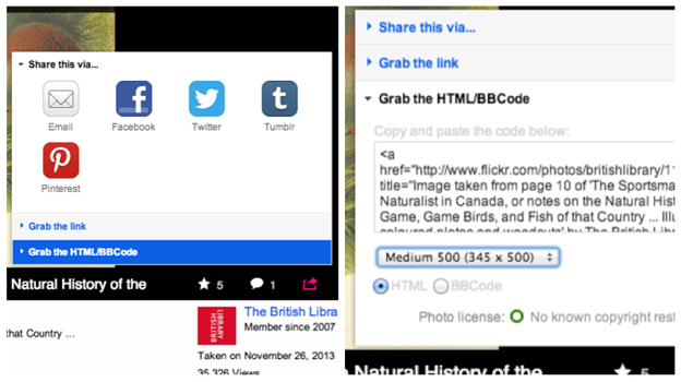 Flickrの画像貼り付け法